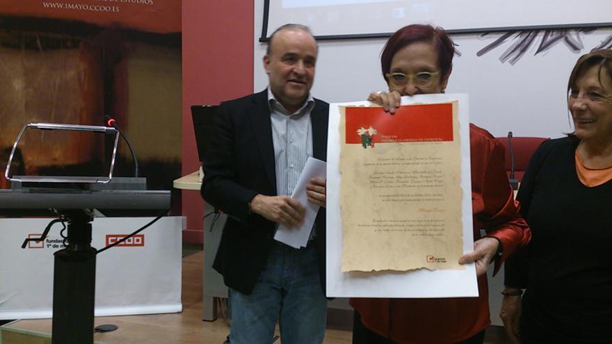 Maruja Torres, Premio Fundación 1º de Mayo a la Libertad de Expresión 2013