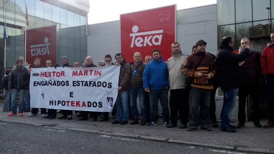 Los trabajadores de Ecomasa-Nestor Martin protestarán ante Teka todas las semanas