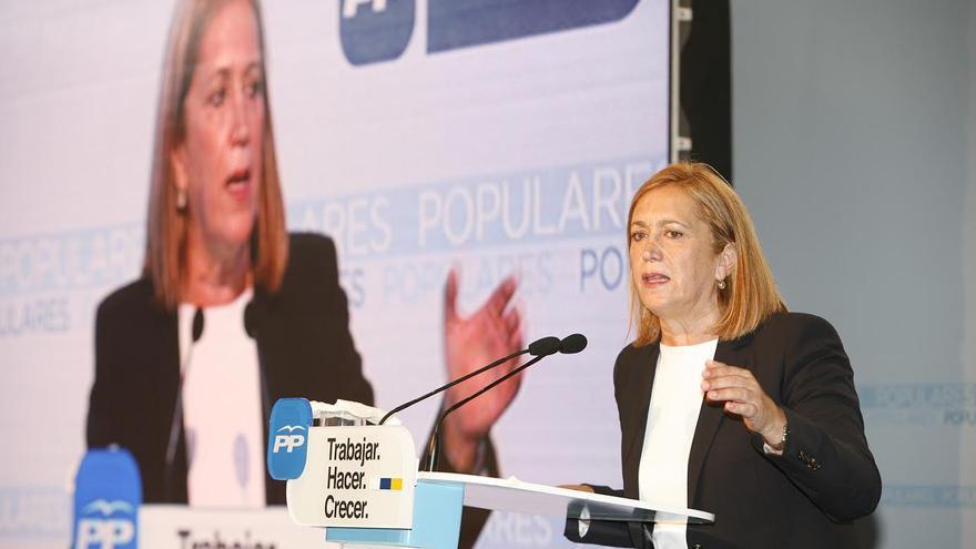 Mercedes Roldós, en un acto de campaña. (ALEJANDRO RAMOS)