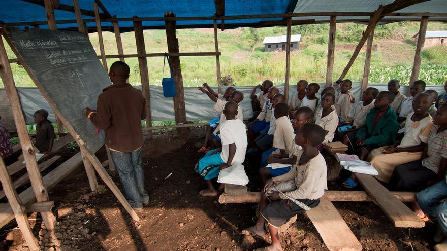 Niños en una escuela de la República Democrática del Congo. UNESCO/M. Hofer