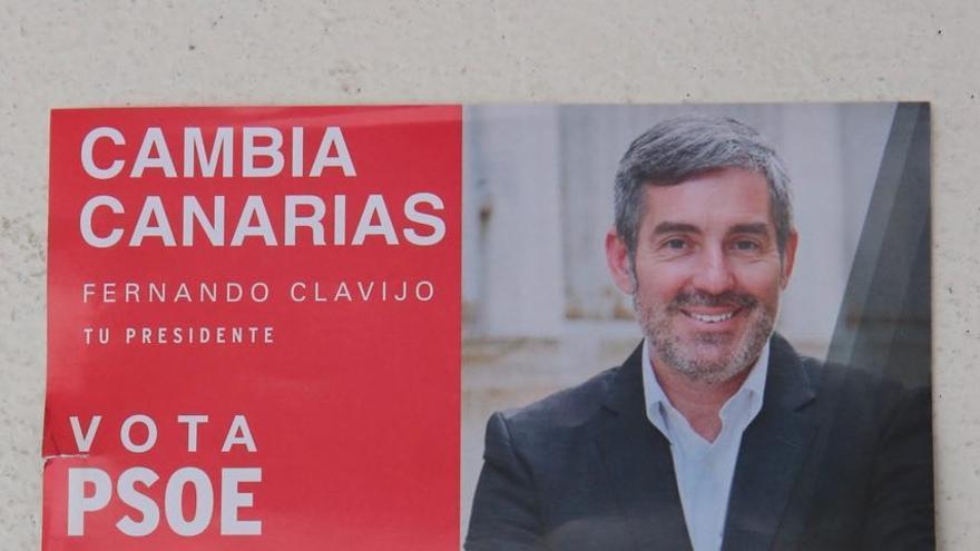 Cartel denunciado por el PSOE en la Junta Electoral de Canarias.