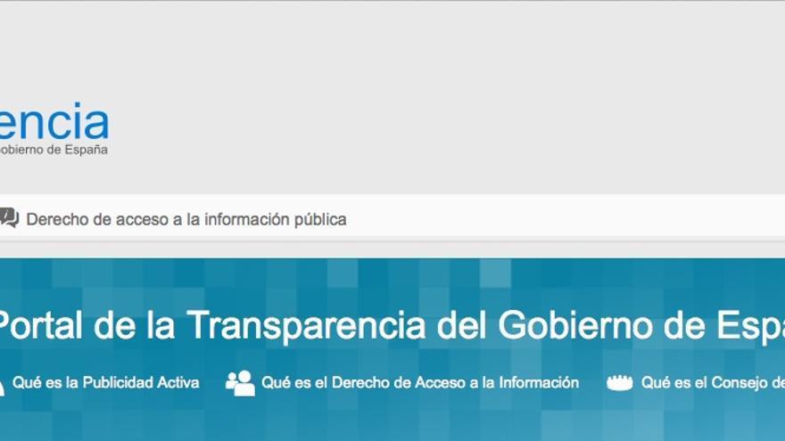 Captura de pantalla del Portal de Transparencia