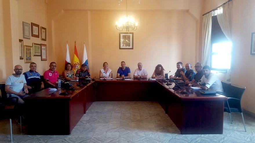 Reunión, este viernes, de la Junta Local de Seguridad de Breña Alta.