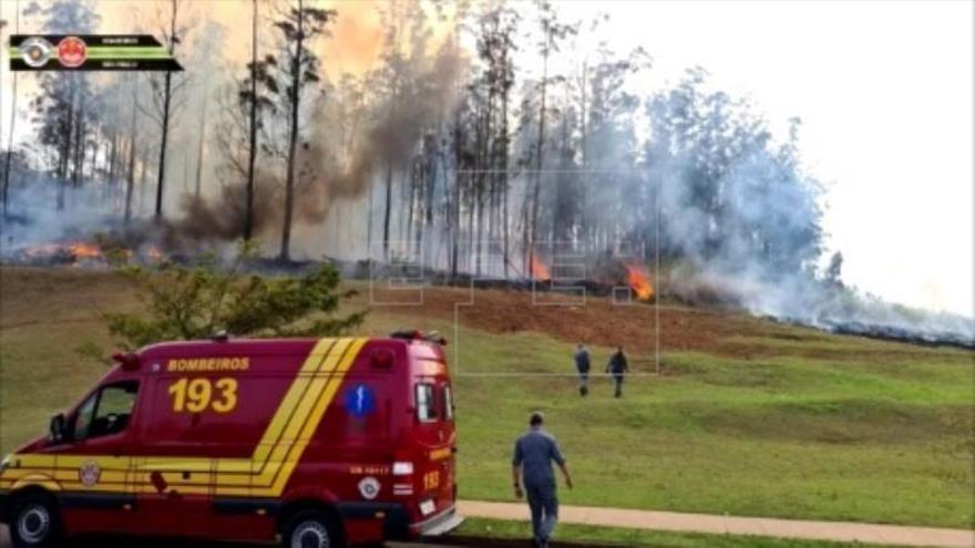 Siete muertos al estrellarse una avioneta en Brasil, entre ellos una familia