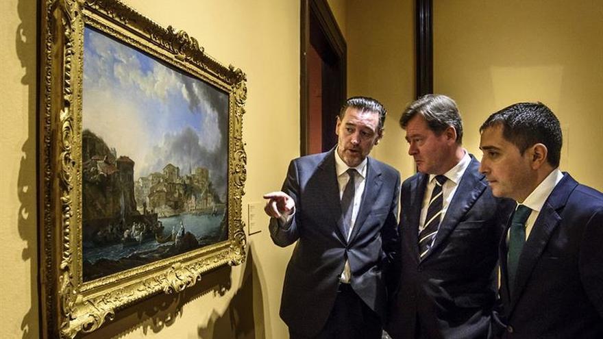 """El Bellas Artes adquiere la """"Vista de Bermeo"""", del pintor Luis Paret"""