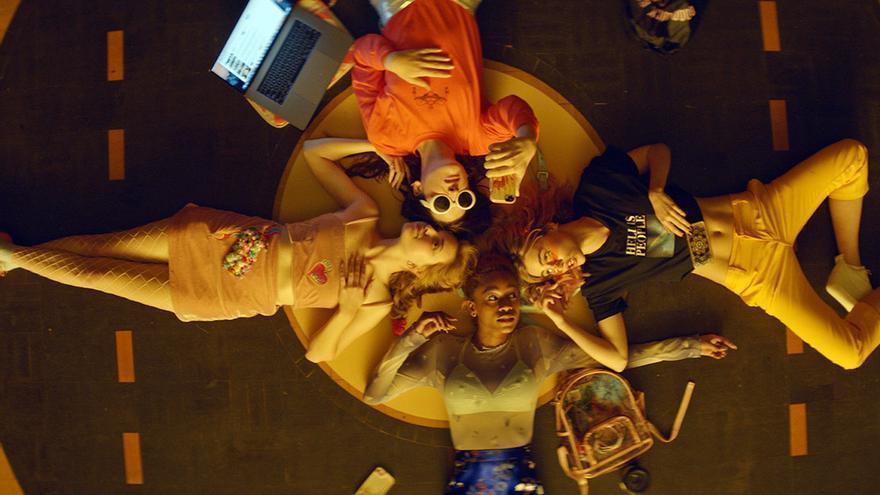 Abra, Hari Nef, Odessa Young y Suki Waterhouse, las cuatro protagonistas de 'Nación Salvaje'
