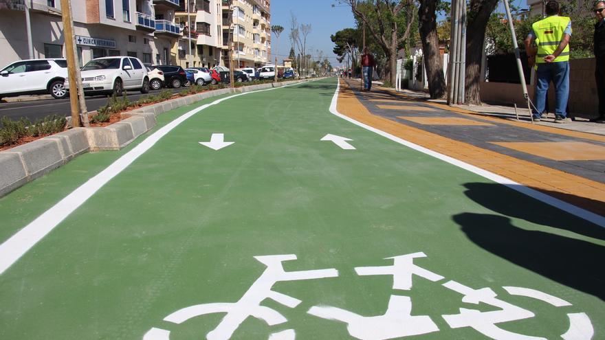 Una de las nuevas rutas ciclopeatonales