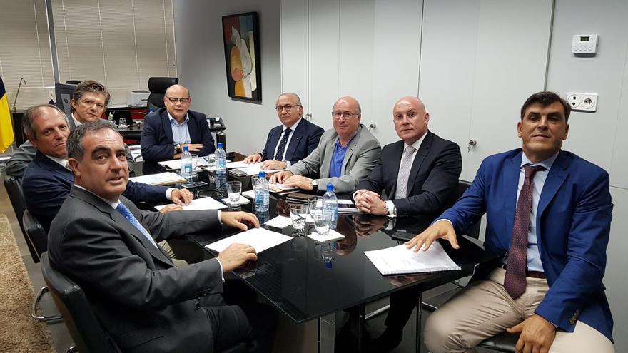 Reunión celebrada este jueves con el Consejo Canario de Colegios de Abogacía.