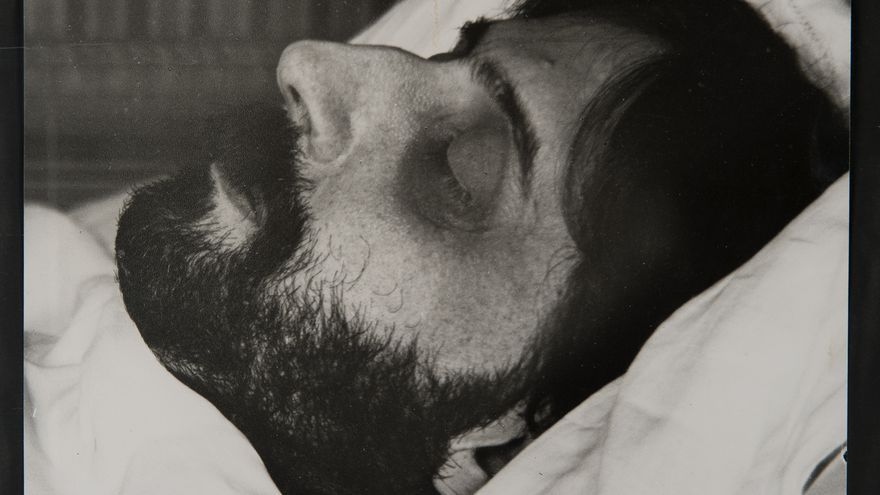 Marcel Prous en su lecho de muerte, 1922