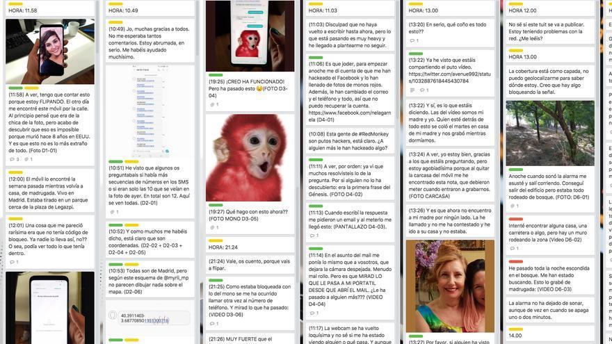 Captura de pantalla de la aplicación Trello en el que se ve la programación de todos los tuits del hilo.