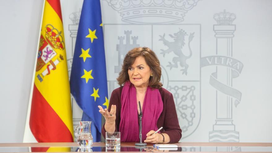 """Calvo cree que es el momento de afrontar una """"salida política"""" para Cataluña y resta importancia a la figura del relator"""