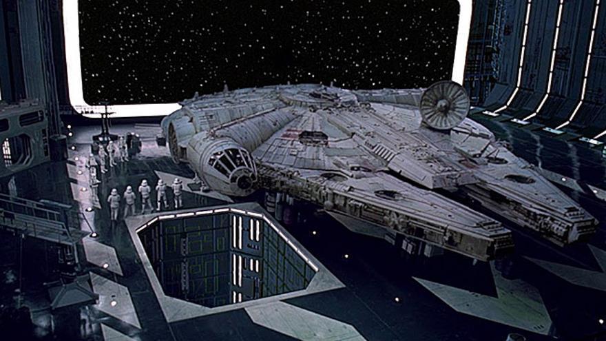 El Halcón Milenario, la nave del contrabandista Han Solo