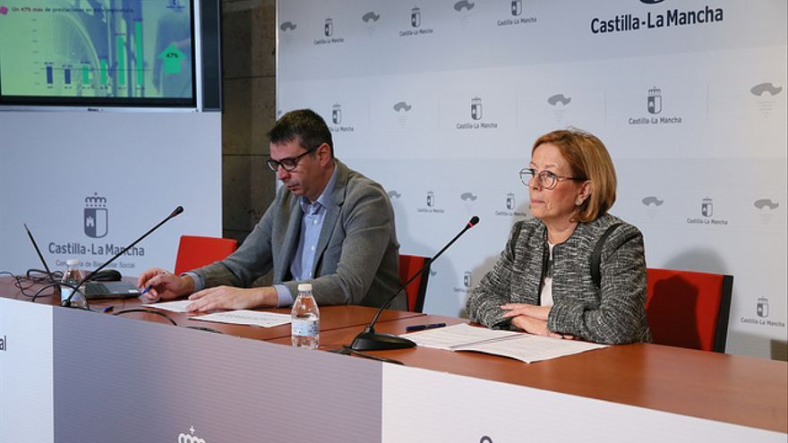 Ana Saavedra, informa de los últimos datos del Sistema de Dependencia de Castilla-La Mancha FOTO: JCCM