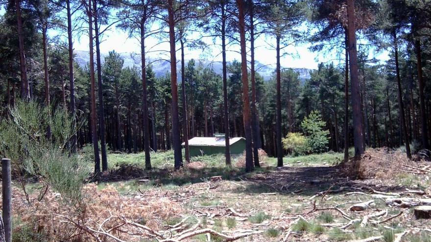 Una de las construcciones realizadas en una zona protegida de la Sierra de Béjar.