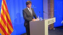 """Puigdemont pide a la UE """"apadrinar"""" una mediación con el Gobierno, aunque proclamarán la independencia"""