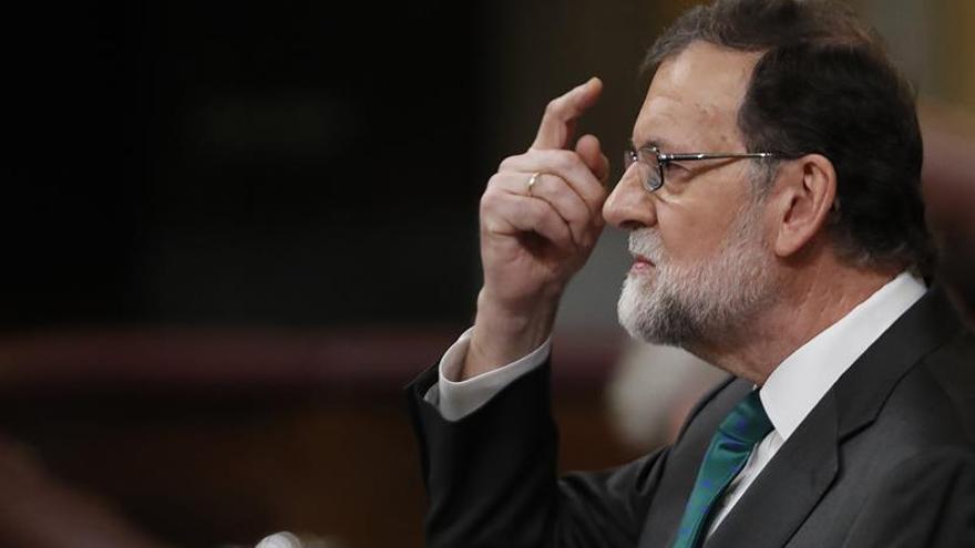 Mariano Rajoy responde a la moción de censura del PSOE.