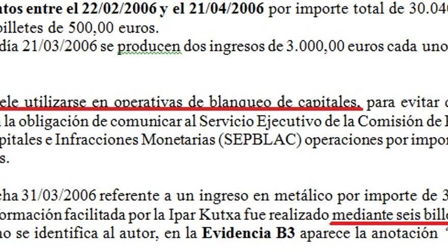 Informe de la Ertzaintza de 2011