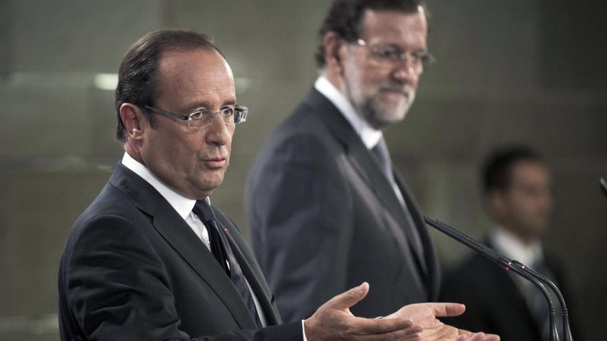 Rajoy y Hollande instan al Banco Central Europeo a reducir el coste de la deuda