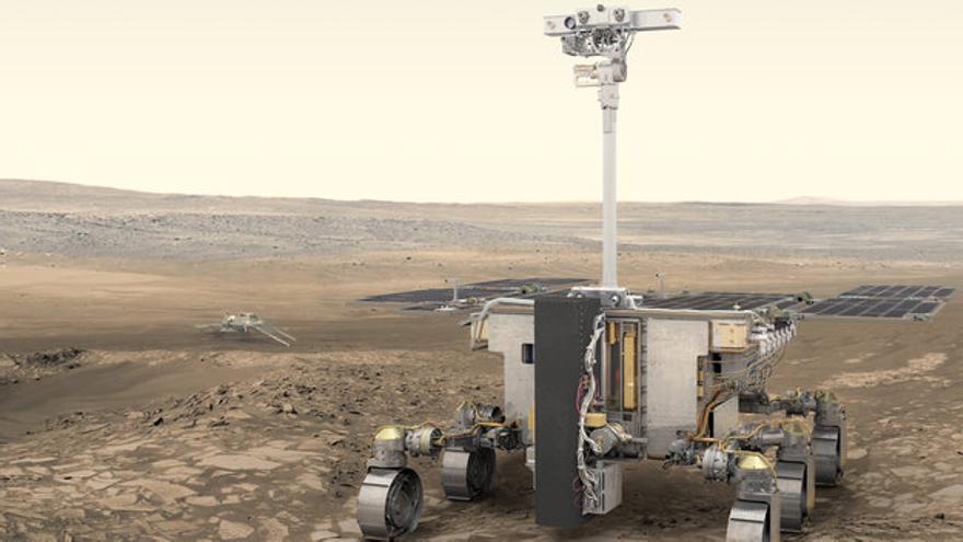 El 'rover' de la misión Exomars de la Agencia Espacial Europea