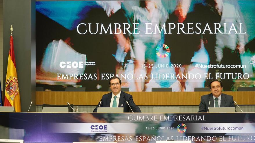 Pedro Barato en la cumbre de la CEOE