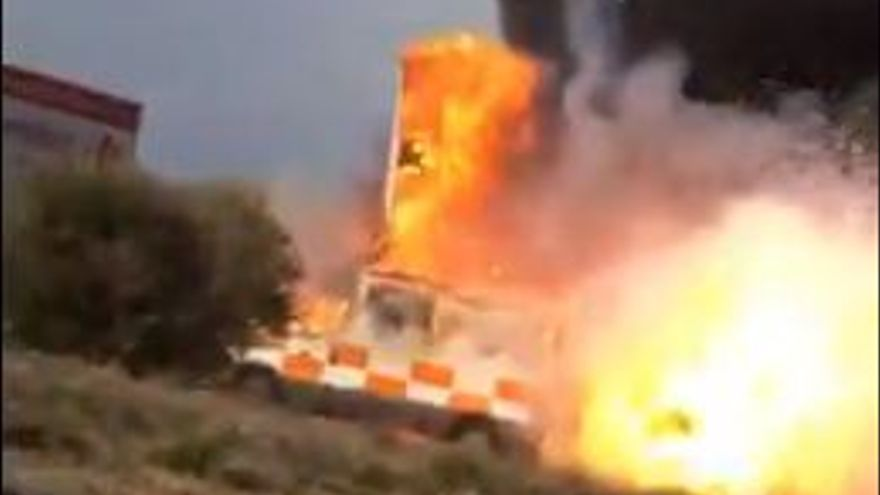 Ambulancia deflagracion