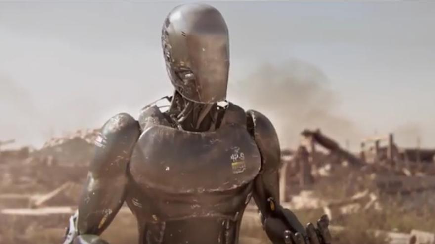 Un fotograma de 'Uncanny valley', segundo premio en Fictional Robots del ROS Film Festival