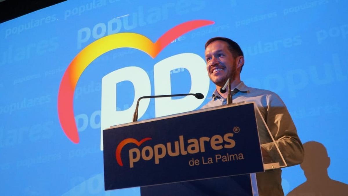Mariano H. Zapata este domingo durante su intervención en el congreso.