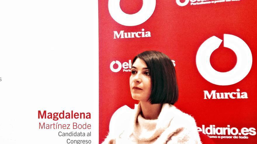 Entrevista a Magdalena Martínez Bode, número 1 de UP-IU al Congreso por la Región de Murcia