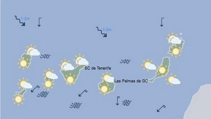 Previsión del tiempo en Canarias para este sábado, 3 de septiembre