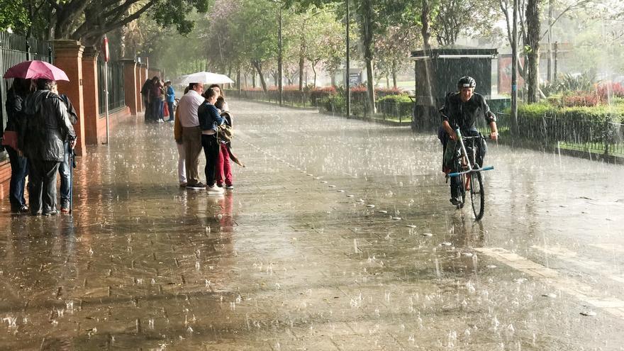 La Aemet activa el aviso amarillo este domingo en Andalucía por tormentas y fuertes vientos ligados al huracán 'Leslie'