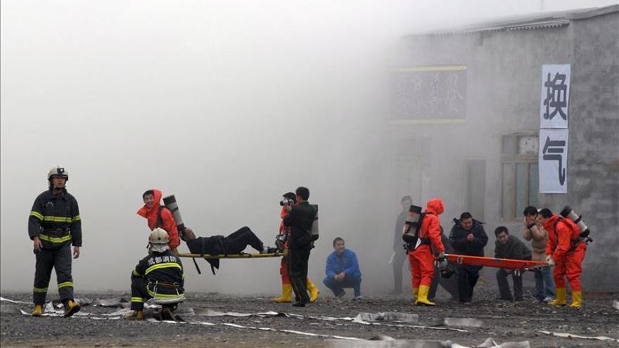 Nueve escolares en estado crítico tras un simulacro de incendio