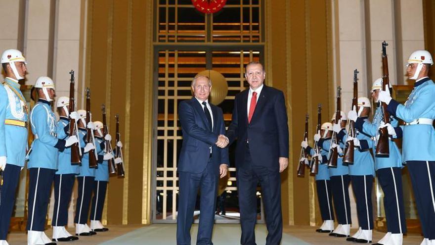 Putin llega a Ankara para analizar con Erdogan los conflictos de Siria e Irak