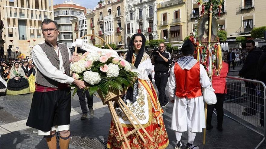 El alcalde de Murcia, José Ballesta, durante las fiestas de primavera