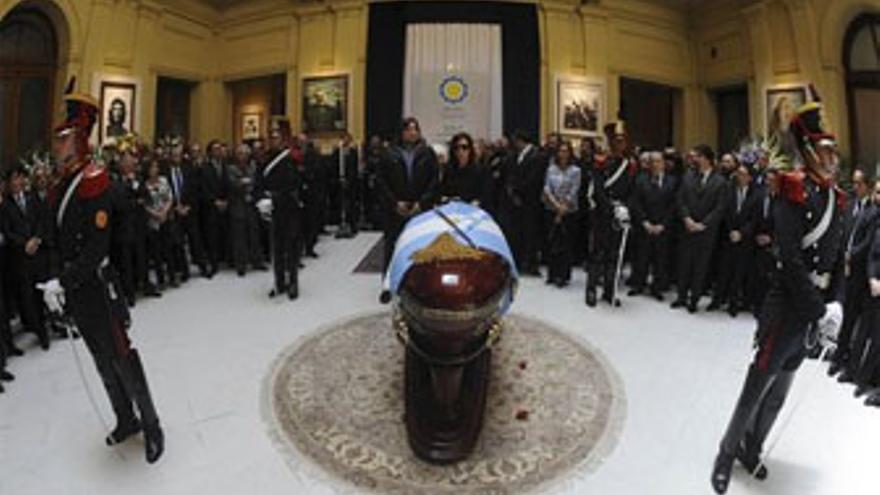 Actos de homenaje al ex presidente argentino. (EUROPA PRESS)
