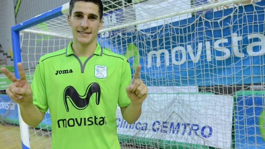 Carlos Ortiz, jugador del Inter Movistar Fútbol Sala (Foto: @InterMovistar | Twitter)