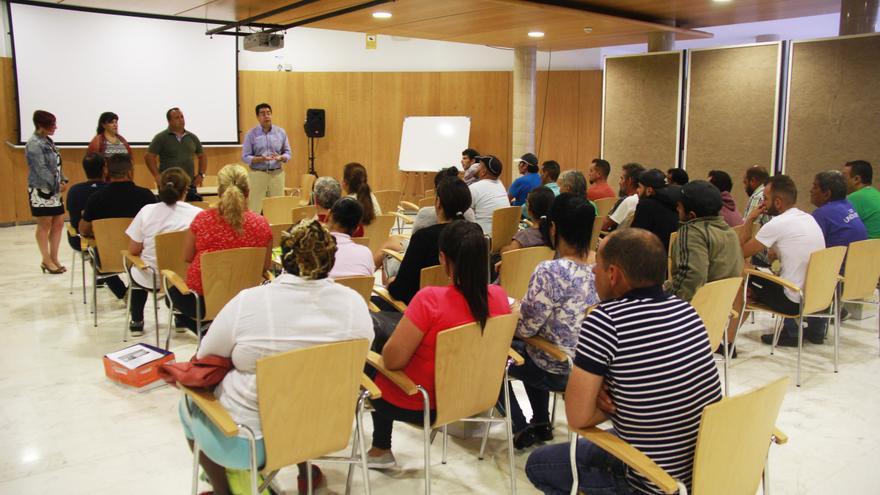 Presentación del proyecto, con la presencia del alcalde Pedro Martín