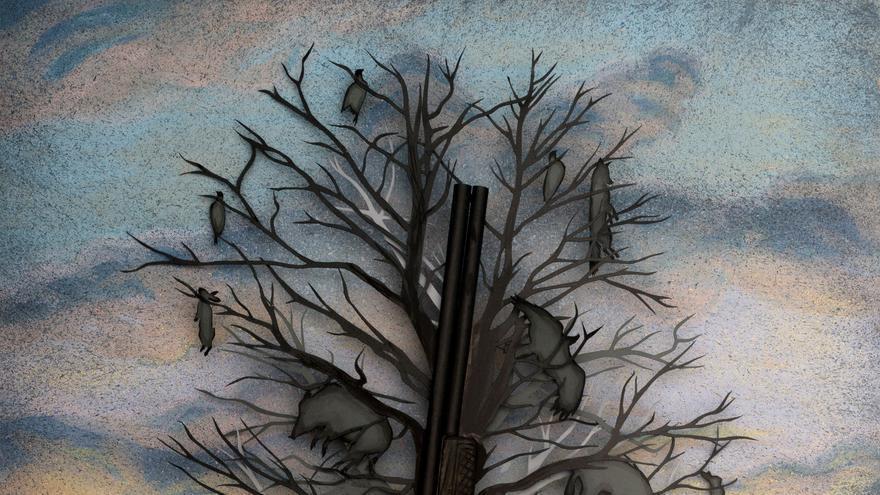 'El árbol del mal', obra del artista Juan Pablo Rada. Foto: Pedro Arnay