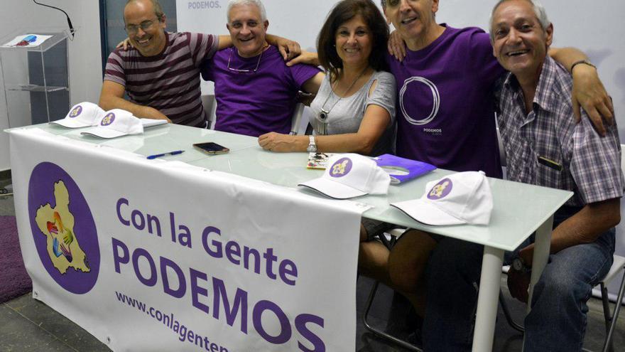 Marcela Crespo en la presentación de la candidatura Con la gente Podemos