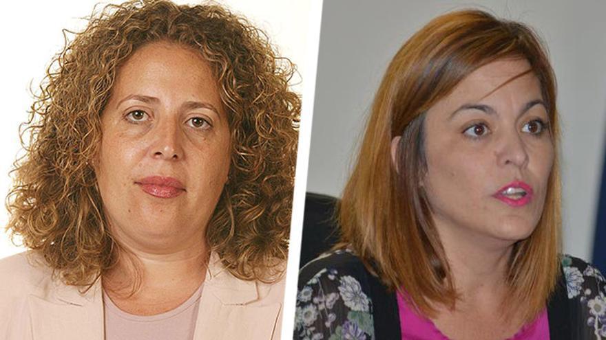 Marlene Figueroa, candidata del PSOE al Cabildo de Fuerteventura y Regina García, concejala del PP en la oposición del Ayuntamiento de La Frontera (El Hierro).