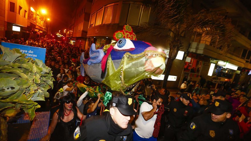 Entierro de la sardina del Carnaval de Las Palmas de Gran Canaria. FOTO: lpacarnaval