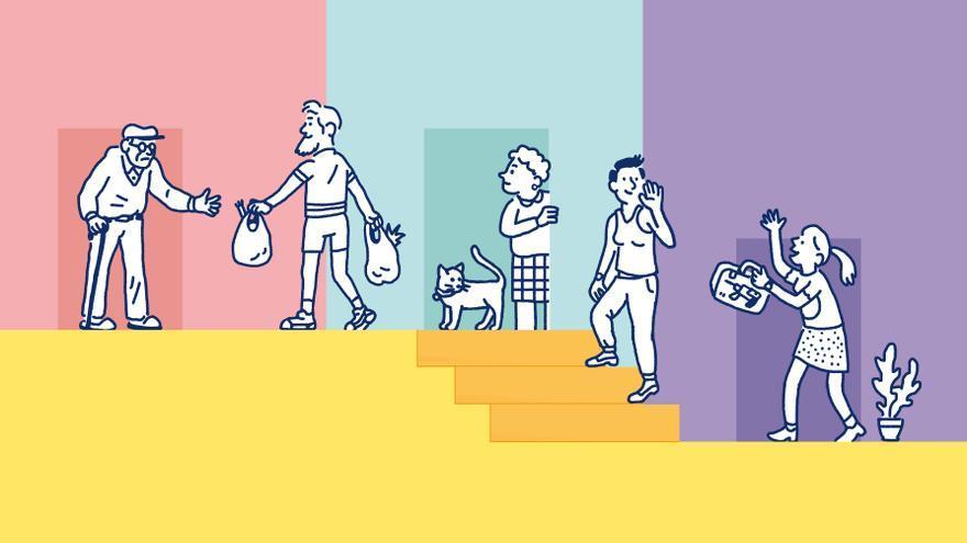 Imagen usada en la cartelería de el proyecto La Escalera