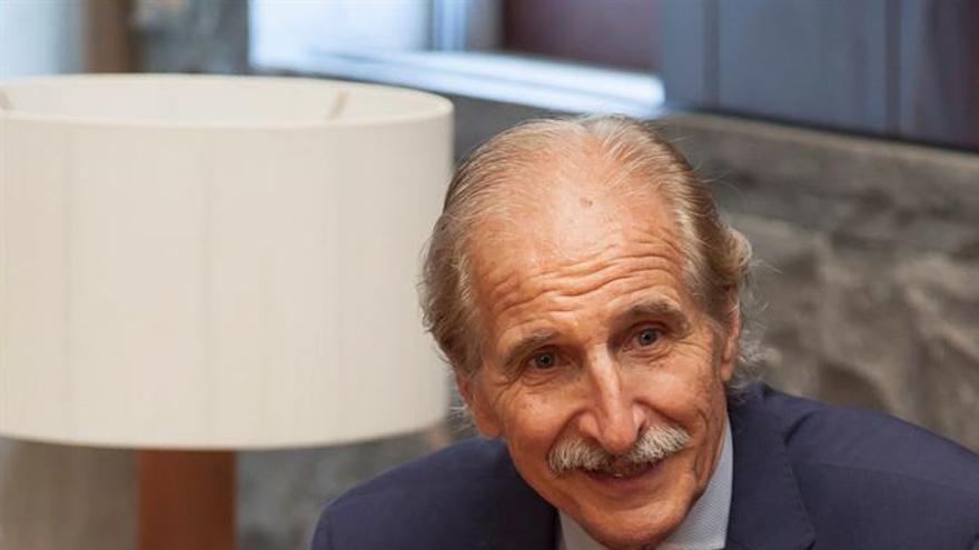 El presidente del Comité Español de Unicef, Carmelo Angulo,