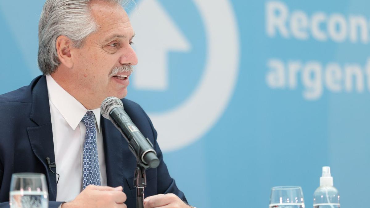 Alberto Fernández en el anuncio del Proyecto de Ley de Compre Argentino, Desarrollo de Proveedores y Compras para la Innovación
