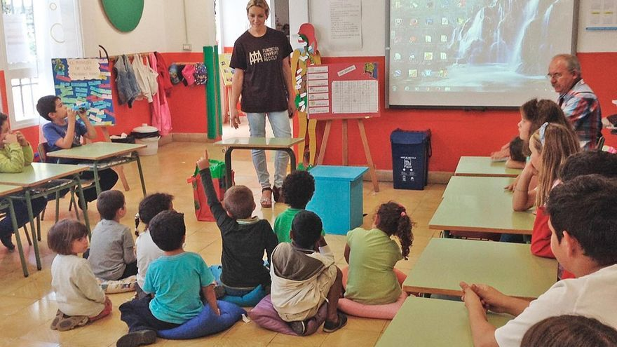 Un aula del Centro de Educación de Infantil y Primaria (CIEP) La Sabina. Foto cedida por el Ayuntamiento de Mazo.