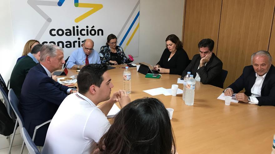 Reunión del Comité Permanente Nacional de Coalición Canaria-Partido Nacionalista Canario celebrado este lunes en Santa Cruz de Tenerife.