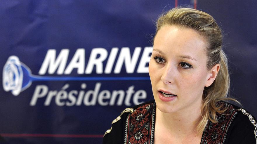 La Marion Marechal Le Pen, en campaña en 2017.