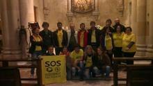 Professors interins ocupen la Sagrada Família per protestar contra les polítiques educatives. / @DocentsPrec
