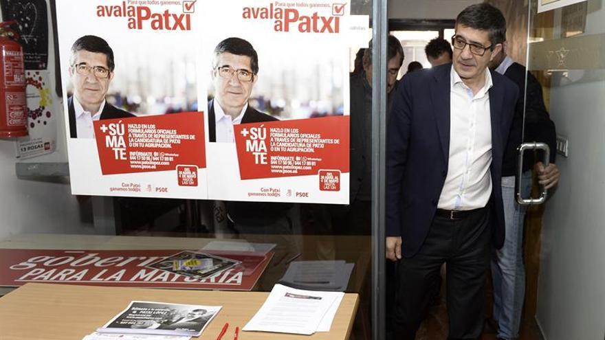 """Patxi López dice que su proyecto para el PSOE es """"integrador"""""""
