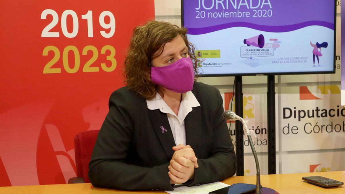 La diputada de IU Alba Doblas.