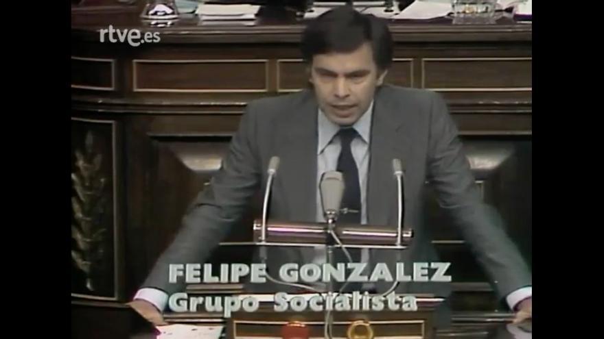 Felipe González, en la moción de censura a Afolfo Suárez en 1980.